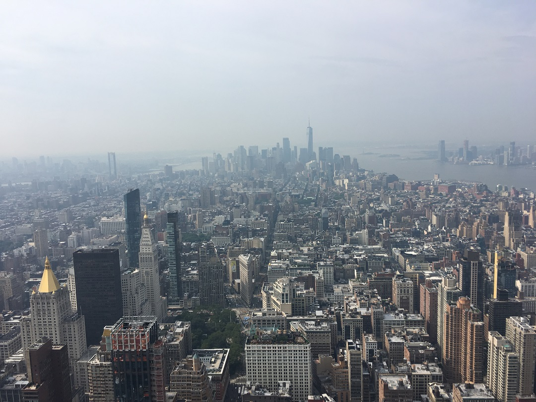 New York Skyline desde Empire State andana dos baixa