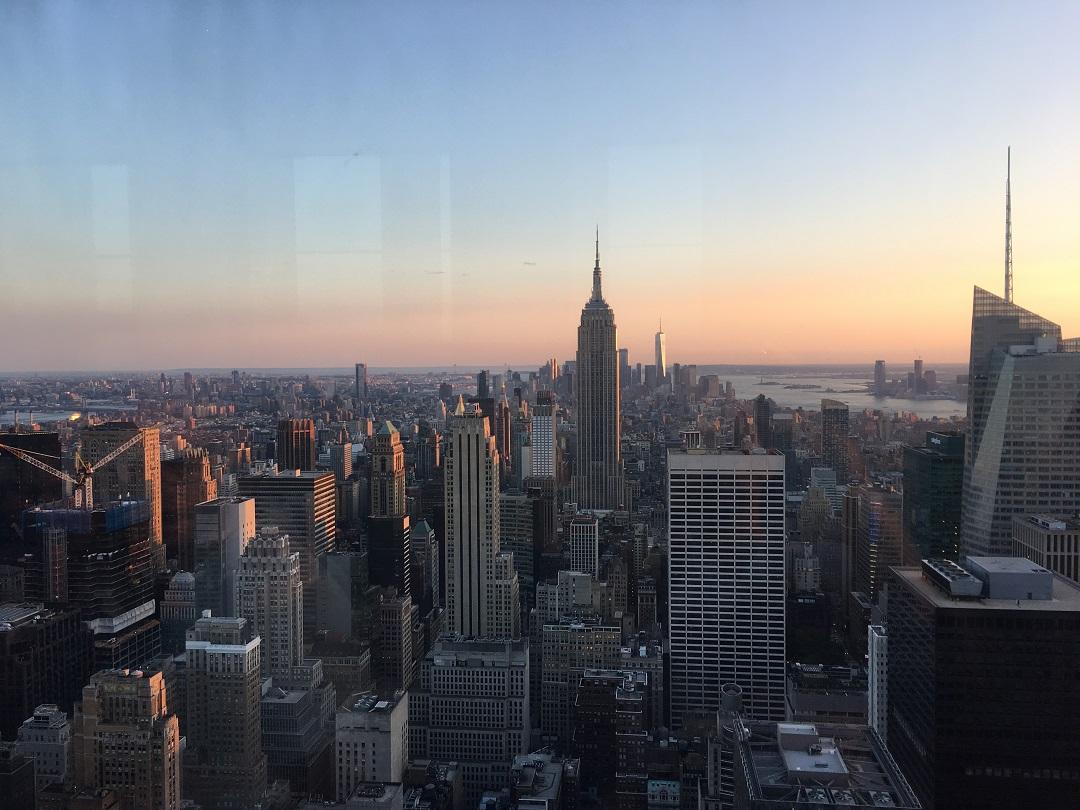 New York Views desde Top of the Rock Andana dos baixa
